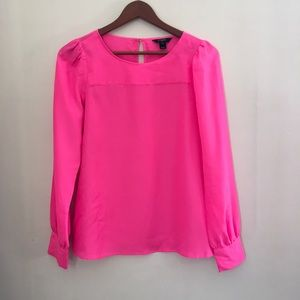 J crew boat neck top size s Bright Pink
